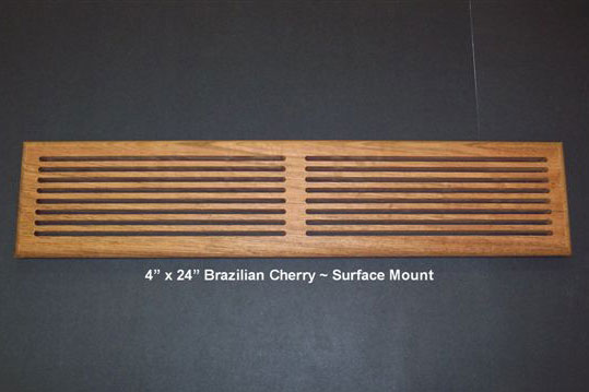 Custom Size Return Air Grille : Surface mount return air slotted grilles